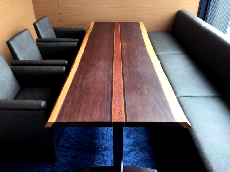 #030 AIREN 心斎橋店 VIP Room 『Arm chair & Sofa  + Mansonia walnut  Table』